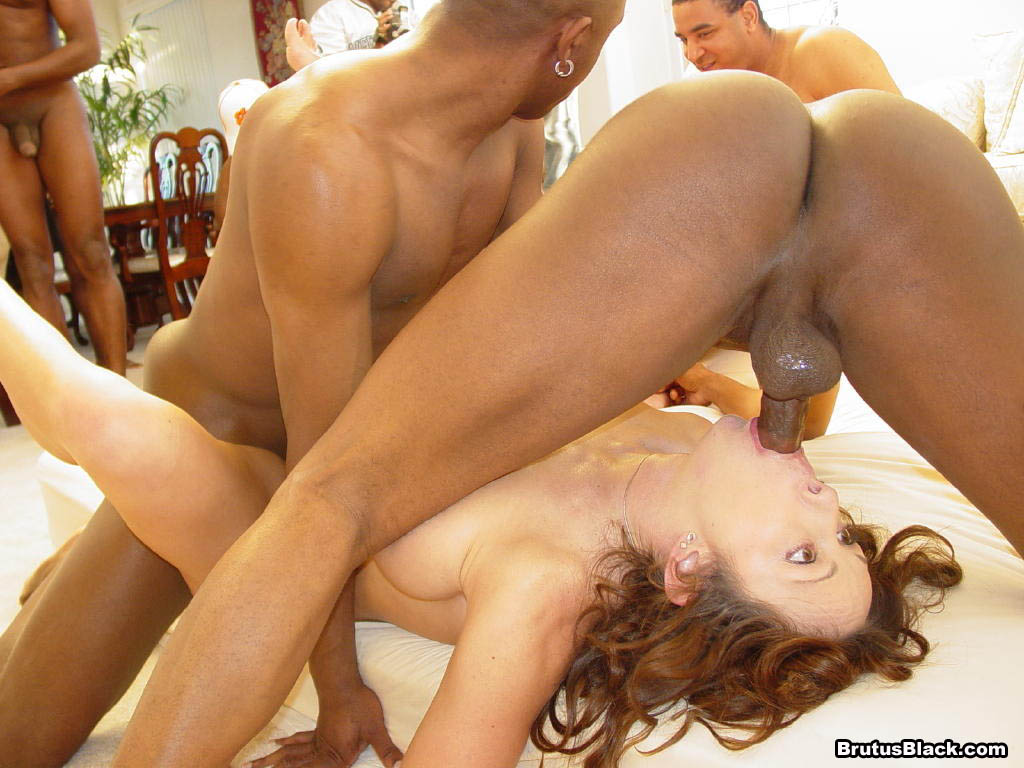 Hot white girl fucked against the wall by black dick 5
