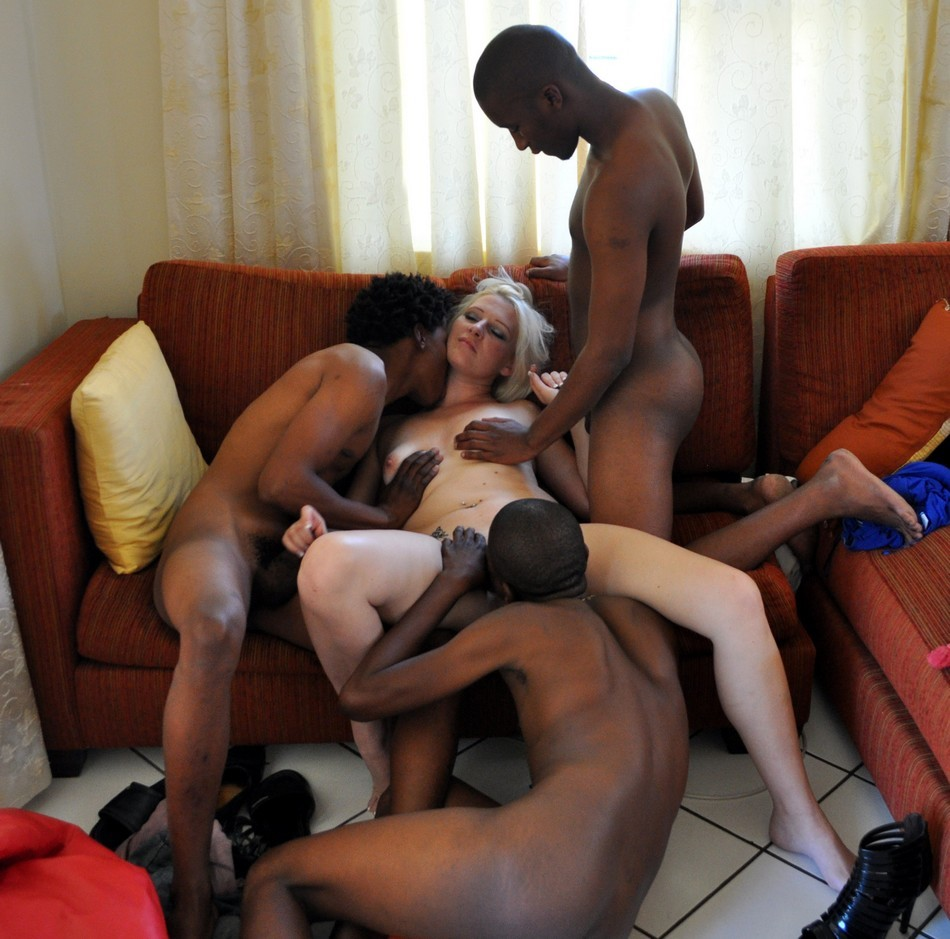 White wife fuck black men
